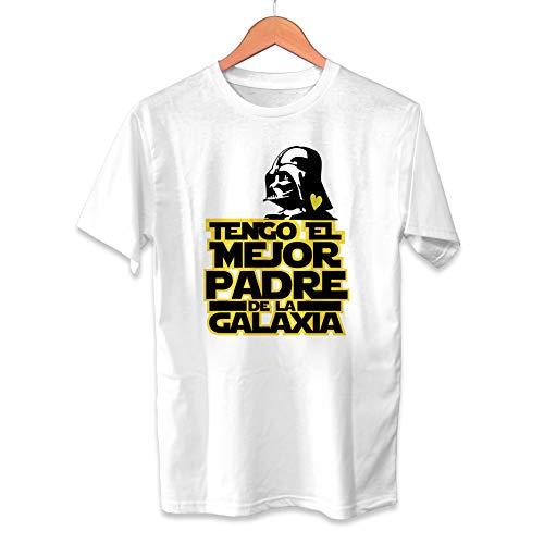 Camiseta Tengo el Mejor Padre de la Galaxia Dia del Padre Star Wars Darth Vader - Unisex Tallas Adultas e Infantiles - Regalo Original para Papá Cumpleaños (5/6 años)