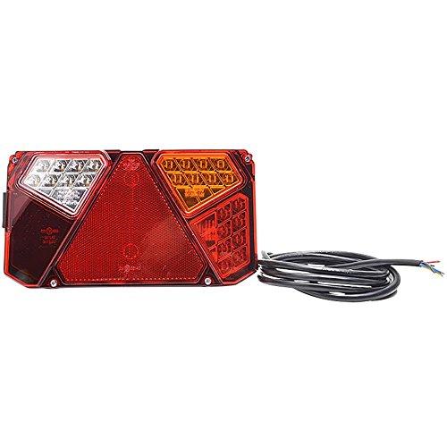 SecoRüt Led-achterlicht voor aanhanger, knipperlicht, remlicht, achterlicht, reflector, achteruitrijlicht, kentekenplaatverlichting r