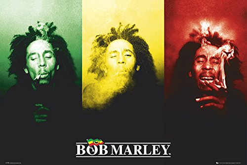GB Eye Limited BOB Marley Flag Fahne Flagge - Musik Poster 61x91.5cm