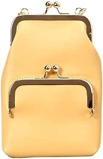Wultia - Women Shoulder Bag Lock Slant Crossbody Bags Mini Back Pack USB Kids Wallet Messenger Bag Small Travel Pouch #G8 Yellow