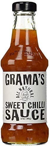 Grama's Sweet Chilli Sauce, All natural No MSG Non-GMO Gluten Free No Preservatives - 13 Fl Oz | Pack of 3