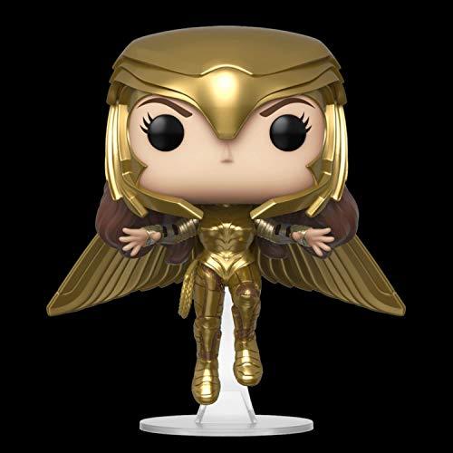 Funko Pop! Movies: Wonder Woman 1984 - Wonder Woman Gold Flying (Metallic), Multicolor