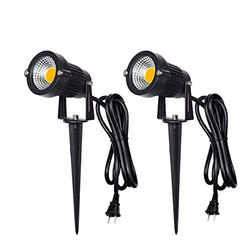 Herimo 5W 電球色 LEDガーデンライト 3000K 400LMガーデンスポットライトIP65防水ガーデン照明 上下左右に回転可能 風景ライト&芝生ライト庭園照明 5万時間の寿命(2個セット)