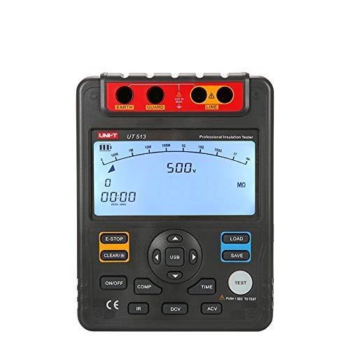 UT513 Medidor de Resistencia de Aislamiento; 5000 V Megómetro, Almacenamiento de Datos Barra Analógica Gráfico DAR Transferencia de Datos USB Retroiluminación LCD