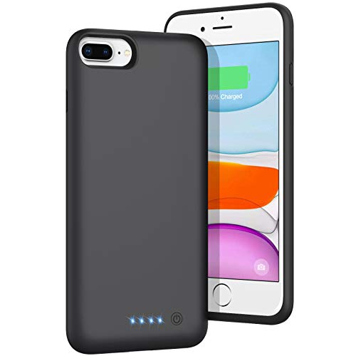 BOMT Battery Case for iPhone 8plus/7plus/6 Plus/6s Plus, [8500mAh] Portable Charging Case Extended Battery Pack for Apple iPhone 8plus/7plus/6 Plus/6s Plus Rechargeable Charger Case(5.5')- Black
