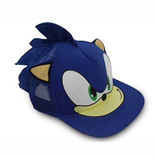 NANLAI Cappellino da Baseball Sonic The Hedgehog Cosplay con Orecchie
