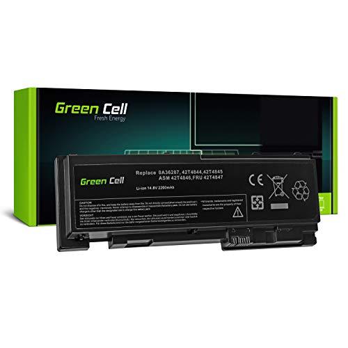 Green Cell 42T4844 42T4845 0A36287 Laptop Akku für Lenovo ThinkPad T420s T420s-4175 T420si (Li-Polymer Zellen 2200mAh 14.8V Schwarz)