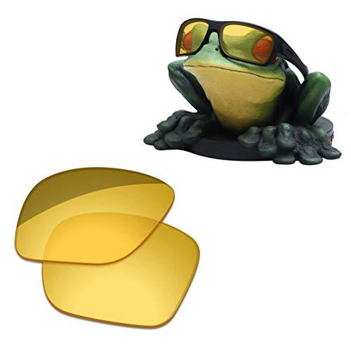 Acefrog Lentes de repuesto polarizadas con revestimiento AR de 1,4 mm de grosor para gafas de sol Oakley Turbine OO9263