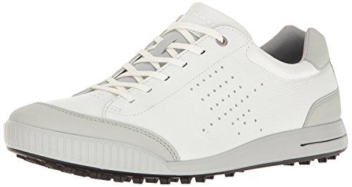 ECCO Men's Street Retro Hydromax Golf Shoe, White/Concrete, 39 EU/5-5.5 M US