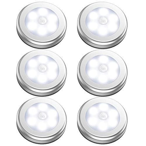 GAGAYA Battery Operated Motion Sensor Light Indoor, LED Closet Lights, Battery Night Light Wireless, Stick on Wall Lamps for Pantry, Cabinet, Wardrobe, Kitchen, Stairs, Steps, Hallway