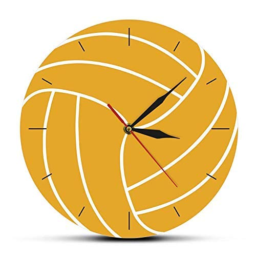 Acrylic Clock 3D Volleyball Print Wall Clock Timepieces Center Forward Decor Silent Wall Watch Sports Shop Wall Art Sign Sportsman Gift Ideal 30cm/12in (DIO1021)