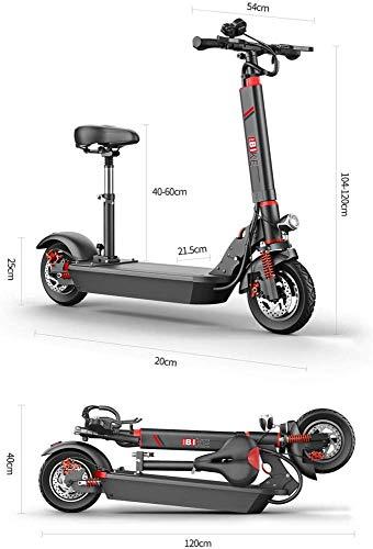 electric bicycle Elektrische scooter 500 W motor opvouwbare elektrische scooter voor volwassenen met alarminstallatie maximumsnelheid 45 km/h 10 inch banden met tempo en USB-opladen 80 tot 100 km