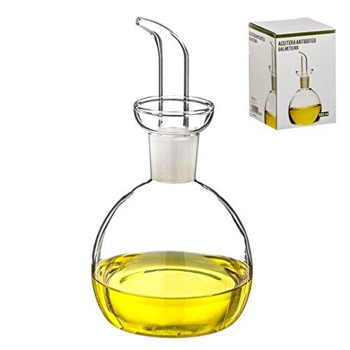 D'CASA Dcasa - Oliera in Vetro antigoccia 500 ml in Scatola, 500 ml