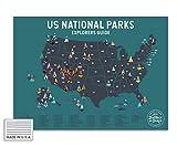 Epic Adventure Maps Poster zum Abkratzen des Nationalparks