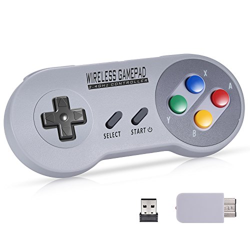 Wireless Controller for Super NES Classic/PC/Switch, Urvoix 2.4G...