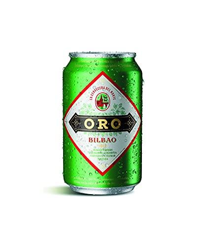 Cerveza Oro Tostada sin filtrar,Caja de 24 Latas 33cl   Con Maltas Tostadas, Sin Filtrar, Tostada, Origen Bilbao, en Lata.
