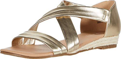 ESPRIT Damen Cassie Flache Sandale, Gold, 39.5 EU