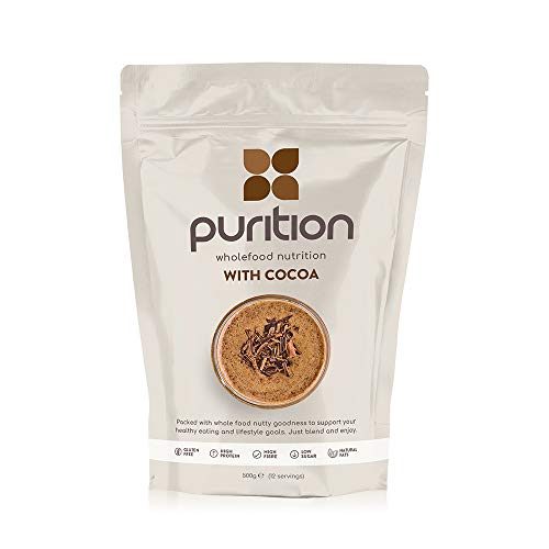 Purition Chocolate Natural Protein Powder for Keto Diet Shakes and Meal Replacements Shakes, 1 Bag (12 Serving)