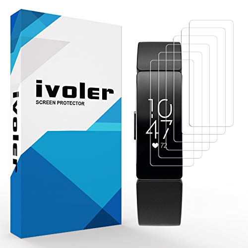 [6 Pack] VGUARD Pellicola Protettiva per Samsung Galaxy Fit 2 / Fitbit Inspire 2 / Fitbit Inspire / Inspire HR, Wet Applied Protezione Schermo [Bubble-Free-Riutilizzabile] HD Clear Film in TPU