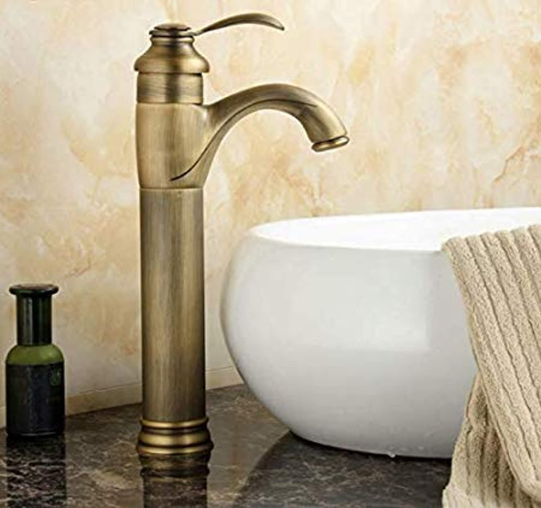 redOOY Taps Antique Brass Bathroom Basin Faucet Antique Brass Mixer Tap Taps