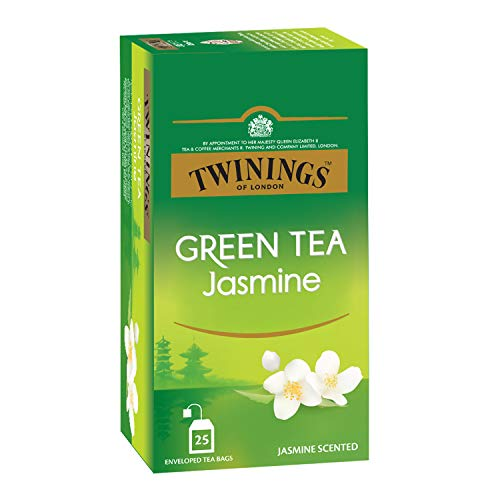 Twinings Green Tea Jasmine, 25 Teabags, Green Tea, Pure Elegance, Smooth and Floral