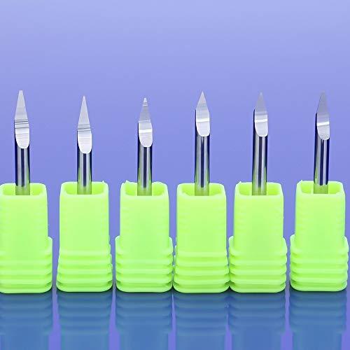 Txrh Holzbe- und Zubehör 10pcs / Lot 3.175mm 30Grad CNC-Fräser Bitgenauigkeit V-Form Carbide PCB Engraving Bits Fräsers Schleif (Dimensions : 10Pcs 30X0.3)