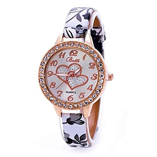ITVIP - Reloj analógico de cuarzo para mujer con correa fina estampada 210 gris