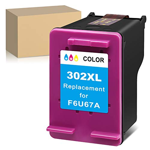 ATOPolyjet - Cartucho de tinta remanufacturado para HP 302 XL con HP Officejet 3830 3831 3832 3833 3834 4650 5230 Deskjet 3630 1110 2130 2132 3636 Envy 4527 4520 4522 4523 (1 tricolor).