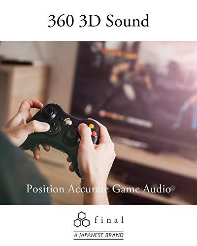 Final E500 - Immersive 3D Live Sound Earphones for VR, ASMR, Gaming and 360 Music, Black