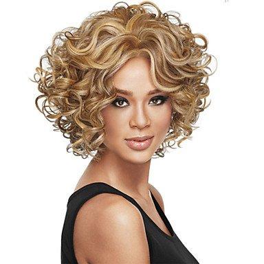 GOOD AND GOOD- Perücken @ hochwertigen europäischen und amerikanischen Mode Lockenperücke haben zwei Farben optional, blonde
