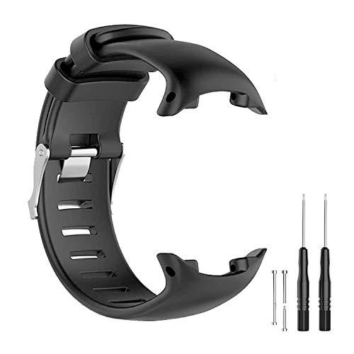 JTMM Cinturino per SUUNTO D4 / D4i Novo Orologio con Cinturino di Ricambio per Orologio GPS, Cinturino in Silicone Morbido Cinturino per smartwatch con Strumenti di rimozione