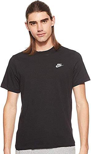 Nike Herren M NSW Club Tee T-Shirt, White/(Black), L