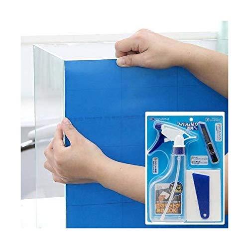 Leaf Corp バックスクリーン ARTI(アルティ)90 オーシャンブルー(95×50cm)+フィルム貼り道具セット