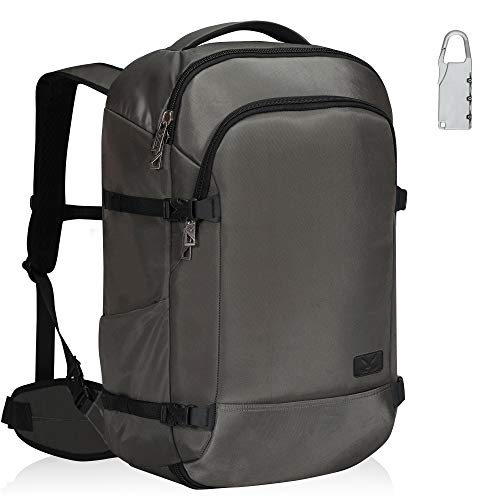 Hynes Eagle 45L Handgepäck Rucksack mit 1 Gepäckschlösser für Flugzeug Großer Wasserabweisend Reiserucksack Handgepäckkoffer für Damen und Herren 55x35x23cm Grau