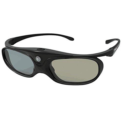 DLP Link 3D Glasses, ELEPHAS 144Hz Rechargeable Active Shutter Eyewear for All DLP-Link 3D Projectors- Acer, ViewSonic, BenQ Vivitek, Optoma, Panasonic, Dell, Viewsonic etc (1 Pack)