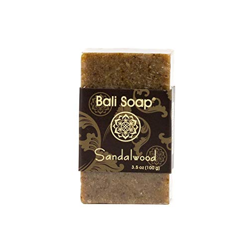 Bali Soap - Sandalwood Pack of 3, Natural Soap Bar, Face or Body Soap Best for All Skin Types, For Women, Men & Teens, 3.5 Oz each