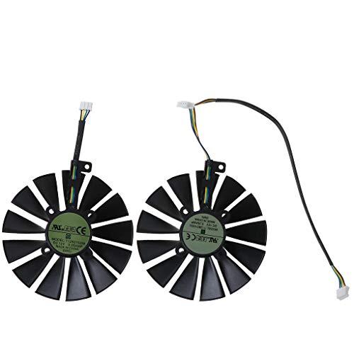 GREEN&RARE Ventilador de repuesto de 95 mm, 13 aspas de repuesto para A-SUS ROG POSEIDON GTX1080TI P11G STRIX RX470 RX570 580 tarjeta gráfica