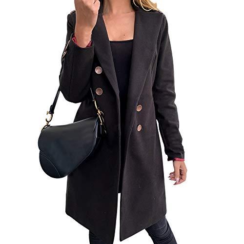 Sfit Damen Windjacke für Knopf hält im Winter warm
