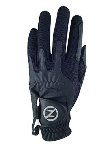 Zero Friction Kompressions-Golfhandschuhe für Männer, synthetische Golfhandschuhe in Einheitsgröße, Herren, GL00001, Schwarz, Einheitsgröße