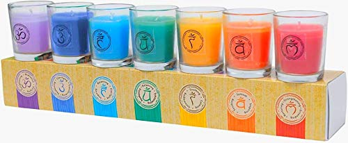Chakra & Luck Votive Candles Scent Pack of Aromatherapy Candle Set Eucalyptus Candle Lavender Candle Rose Candle Jasmine Candle Cedar Candle, Lotus and Ylang Ylang Home Scent