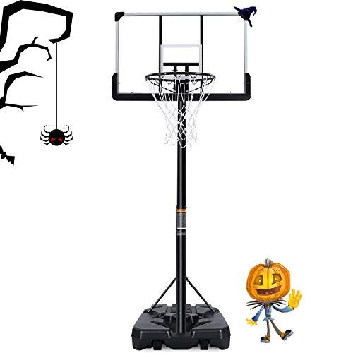 MaxKare Basketballständer Höhenverstellbar Basketballanlage Basketballkorb mit befüllbare Ständer mit Wasser Sand für Kinder Erwachsene Einstellbar 2m-3m Tragbar mit 1,12m Rückwand und Räder