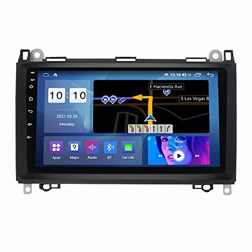 ADMLZQQ Pantalla TáCtil Completa De 9 Pulgadas Android 11 NavegacióN Multimedia para Mercedes-Benz B-Classb200 B180, Navegador GPS con SWC/Carplay/Dsp/BT + CáMara Trasera,M300S8core3+32