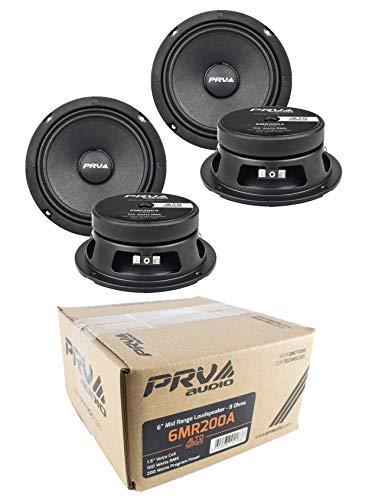 4X 6 PRV Audio 6MR200A Mid Range Loud Speakers 8- Ohm 800W Car Audio Speakers
