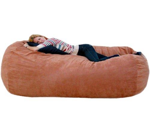 Cozy Sack 7-Feet Bean Bag Chair, X-Large, Rust