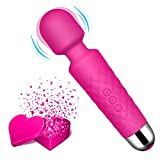 Personal Wand Massager - 8 Powerful Speeds and 20 Vibration Modes Mini Cordless Wand Massager for Women, Relief Relax...