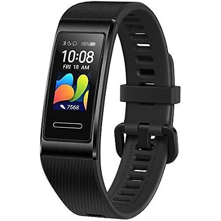 """HUAWEI Band 4 Pro Smart Band Fitness Tracker, Touchscreen AMOLED 0.95"""", Monitoraggio Battito Cardiaco, Monitoraggio Scientifico del Sonno, GPS Integrato, Resistente all'Acqua, Black"""
