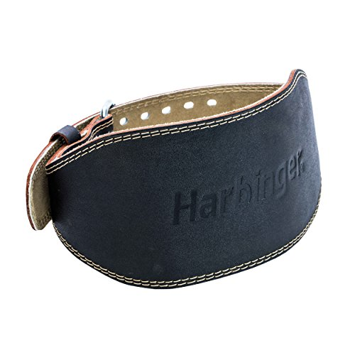 Harbinger padded leather contoured weightlifting belt image