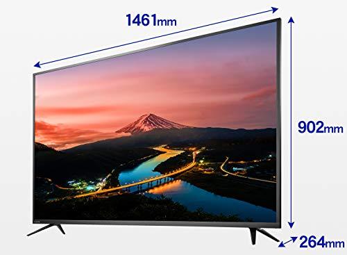 『I-O DATA 4K モニター 65インチ 4K(60Hz) PS4 Pro HDR ADS HDMI×3 DP×1 リモコン付 3年保証 土日サポート EX-LD4K651DB ブラック』のトップ画像