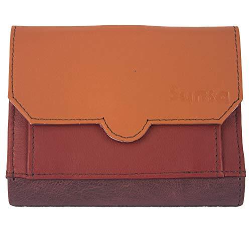 Sunsa Geldbörse für Damen Kleiner Leder Geldbeutel Portemonnaie Brieftasche mit viele Kreditkarten Fächer Geldtasche Wallet Purses for Women das Beste Gift kleine Geschenk 81286