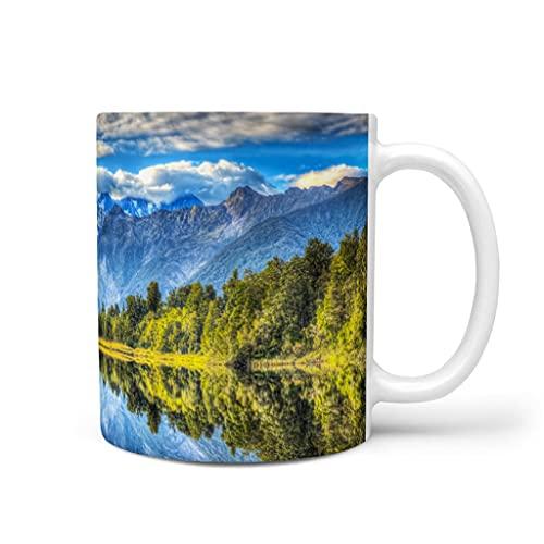 DOGCATPIG Taza de café restaurante Bosque al aire libre regalo taza para papá blanco 11 oz